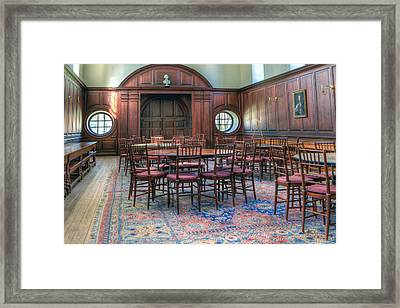 Framed Print featuring the photograph Dining Hall Wren Building by Jerry Gammon