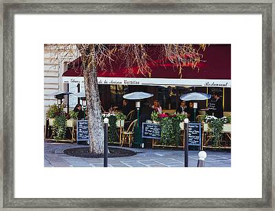 Dining In Paris Framed Print by Pati Photography