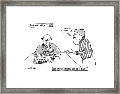 Dining Infraction Framed Print by Michael Crawford
