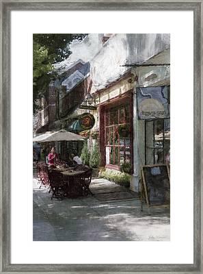 Dining Outside Framed Print