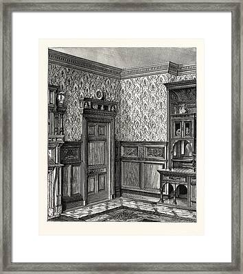 Dining Room Woodwork Framed Print by English School