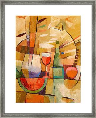 Dining Table Framed Print by Lutz Baar