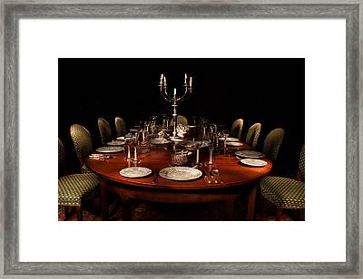 Dining Table Paxton House Framed Print