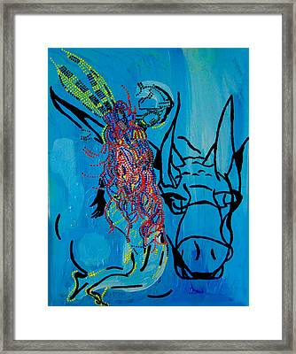 Dinka Groom - South Sudan Framed Print