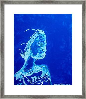 Dinka Painted Lady - South Sudan Framed Print by Gloria Ssali