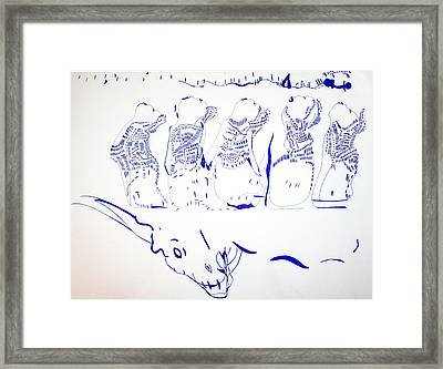 Dinka Wise Virgins -south Sudan Framed Print by Gloria Ssali