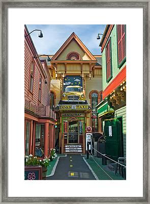 Dinks Taxi In Bar Harbor Framed Print