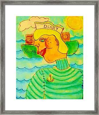 Dinky P. Troff Framed Print by Melissa Osborne