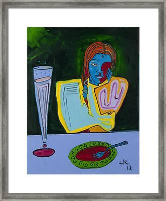 Dinner 40x30 Framed Print