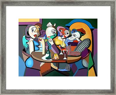 Dinner At Mario's Framed Print by Anthony Falbo