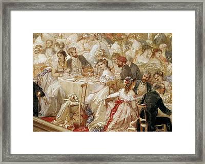 Dinner At The Tuileries, 1867 Wc On Paper Detail Of 182992 Framed Print by Henri Baron