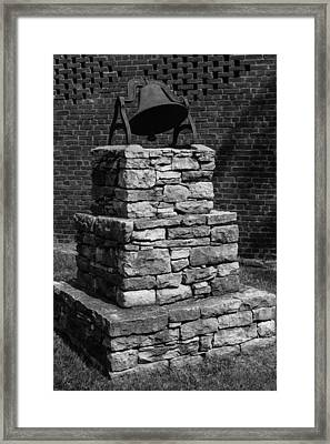Framed Print featuring the photograph Dinner Bell At Belle Meade Mansion by Robert Hebert