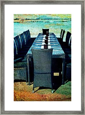Dinner By The Sea Framed Print by Georgia Fowler