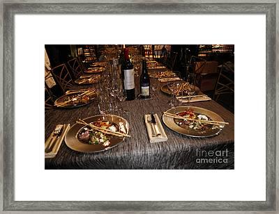 Dinner Is Served Framed Print by Nina Prommer