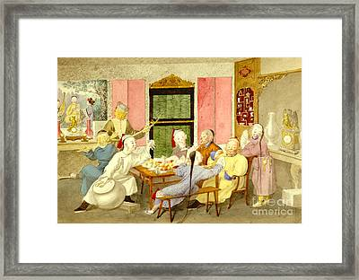 Dinner Party 1860 Framed Print by Padre Art