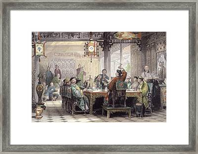 Dinner Party At A Mandarins House Framed Print