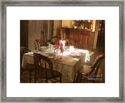 Framed Print featuring the photograph Dinner Party by Cristophers Dream Artistry