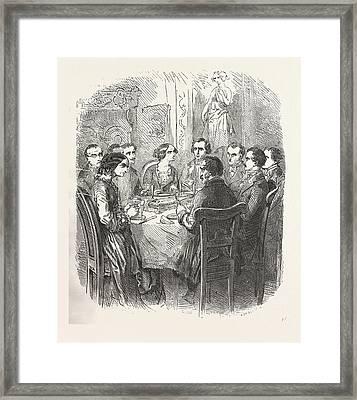 Dinner, The Count Of Monte Christo Alexandre Dumas, 1844 Framed Print by English School