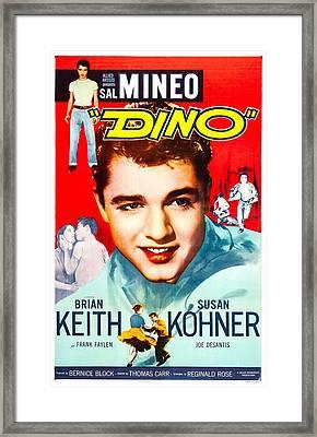 Dino, Us Poster, Sal Mineo, 1957 Framed Print