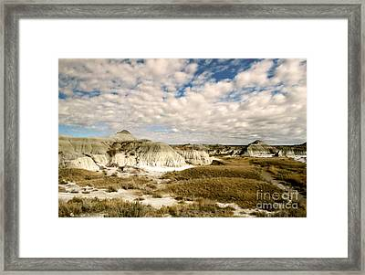 Dinosaur Badlands Framed Print