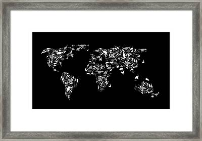 Dinosaur Map Of The World 3 Framed Print