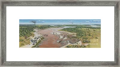 Dinosaur National Monument Panorama Framed Print by Mark Hallett