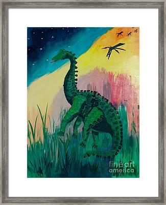 Dinosaur Framed Print by PainterArtist FIN