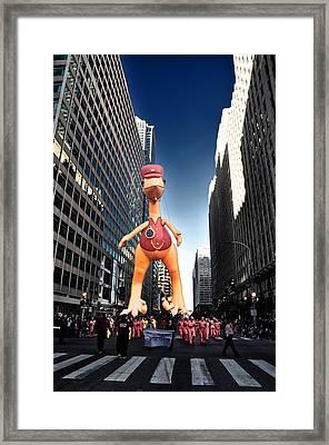 Dinosaur Parade Float Framed Print by Bill Cannon