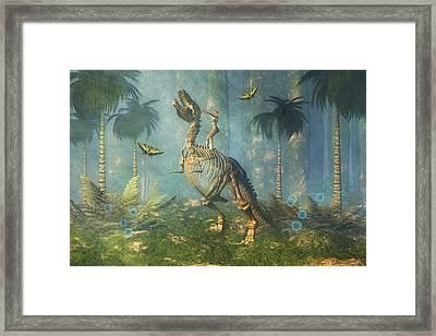 Dinosaur Warrior  Framed Print by Carol and Mike Werner