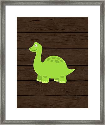 Dinosaur Wood I Framed Print by Tamara Robinson