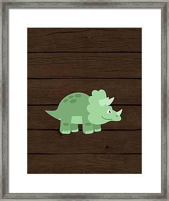 Dinosaur Wood II Framed Print