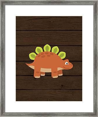 Dinosaur Wood IIi Framed Print