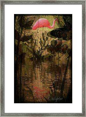 Framed Print featuring the digital art Dinosaurs Among Us by Delight Worthyn