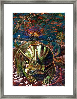 Dinosaurs Framed Print by Dan Terry