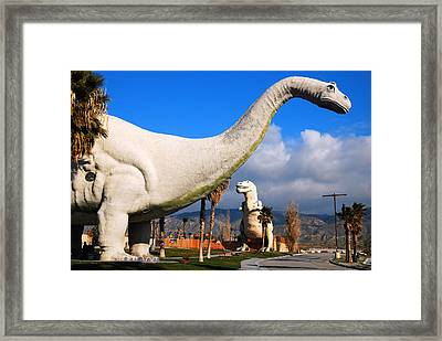 Dinosaurs Of Cabazon Framed Print by James Kirkikis
