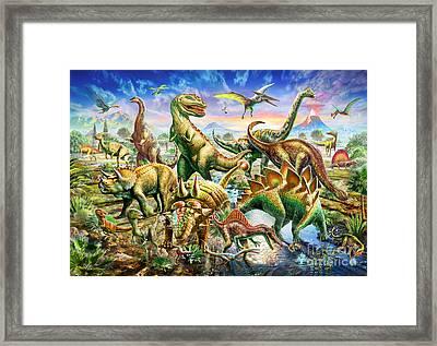 Dinoscene   Framed Print