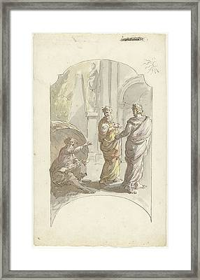 Diogenes Asked Alexander Not To Stand In His Light Framed Print by Quint Lox