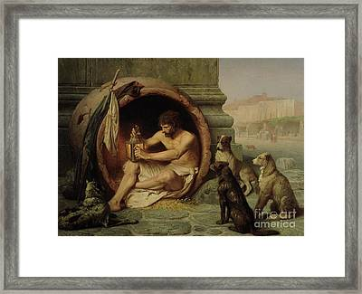 Diogenes Framed Print by Jean Leon Gerome
