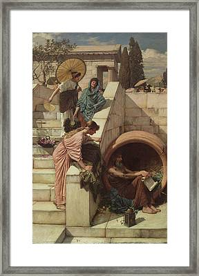 Diogenes Framed Print by John William Waterhouse