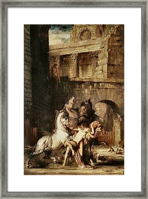 Diomedes Devoured By His Horses Framed Print