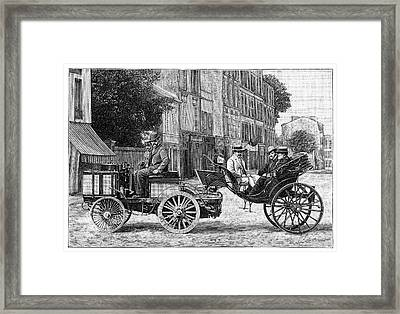 Dion Steam Carriage Framed Print