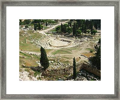 Dionysus Amphitheater Framed Print