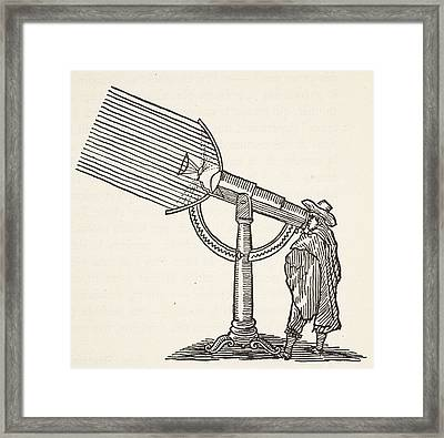 Dioptric Telescope Framed Print by French School