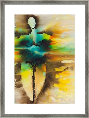 Diosa Madre Series No. 2160 Framed Print by Ilisa Millermoon