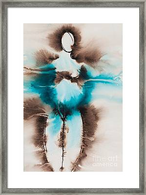 Diosa Madre Series No. 2166 Framed Print by Ilisa Millermoon