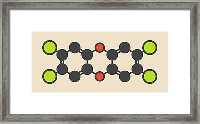 Dioxin Molecule Framed Print