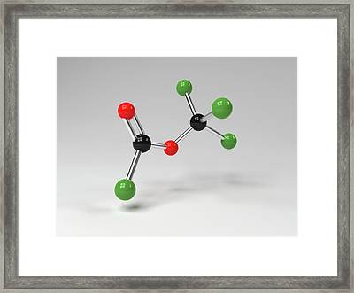Diphosgene Molecule Framed Print