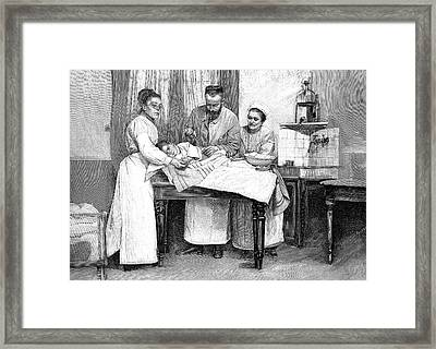 Diphtheria Vaccination Framed Print by Collection Abecasis