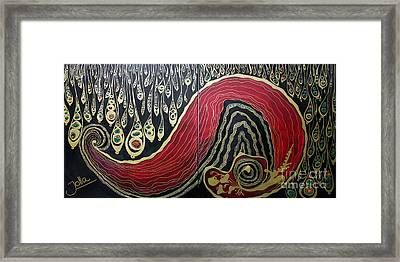 Dipped In Gold Diptich Framed Print by Jolanta Anna Karolska