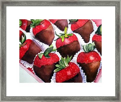Dipped Strawberries Framed Print